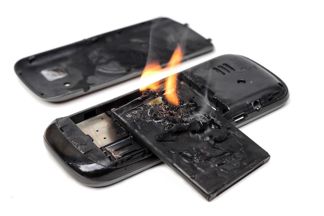 Mobile Phone on Fire